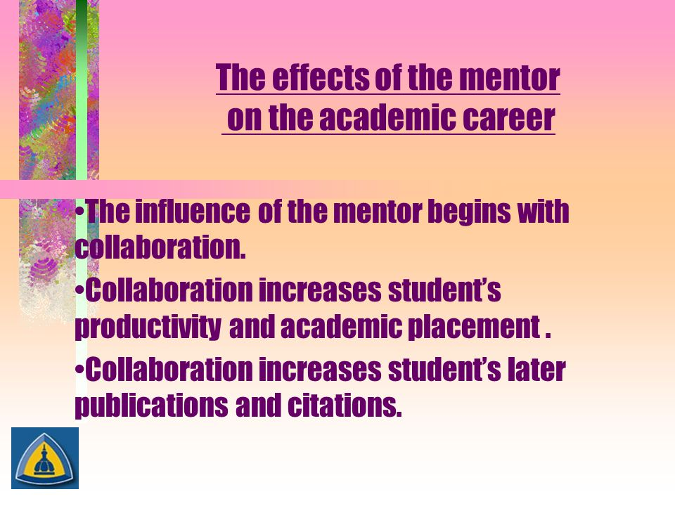 The effects of the mentor on the academic career