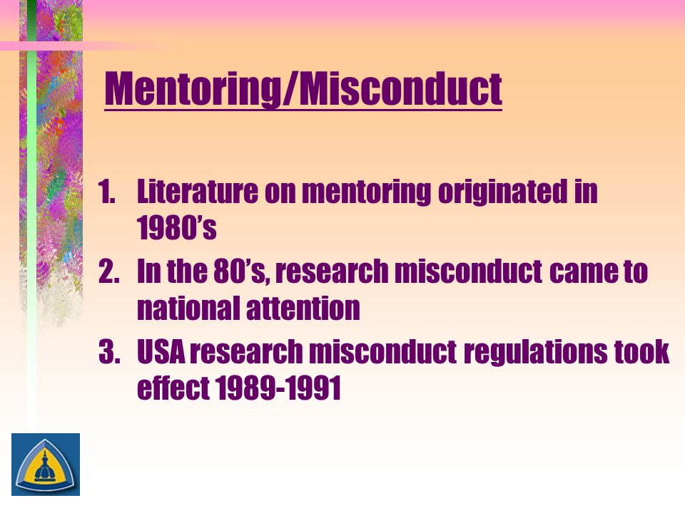 Mentoring/Misconduct