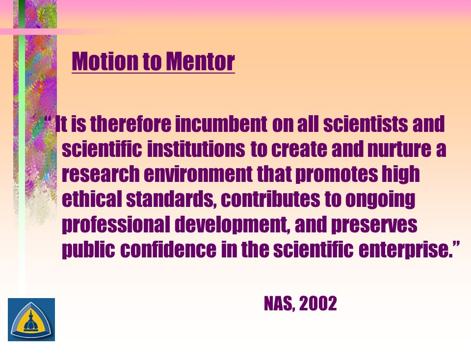 Motion to Mentor