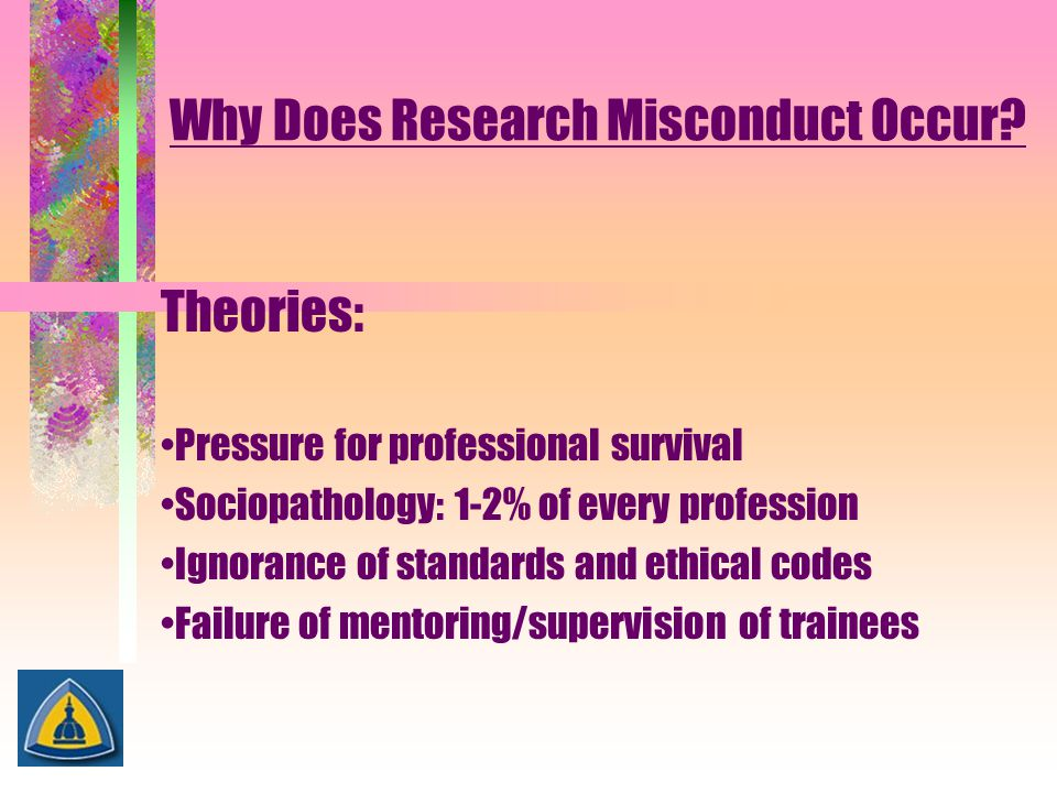 Why Does Research Misconduct Occur