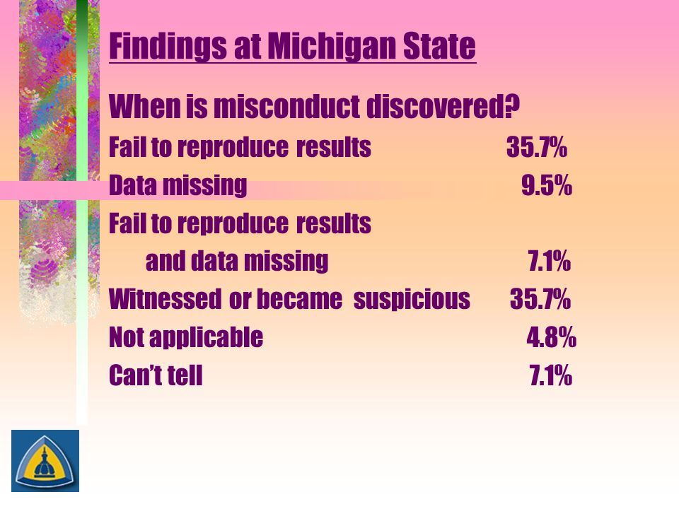 Findings at Michigan State