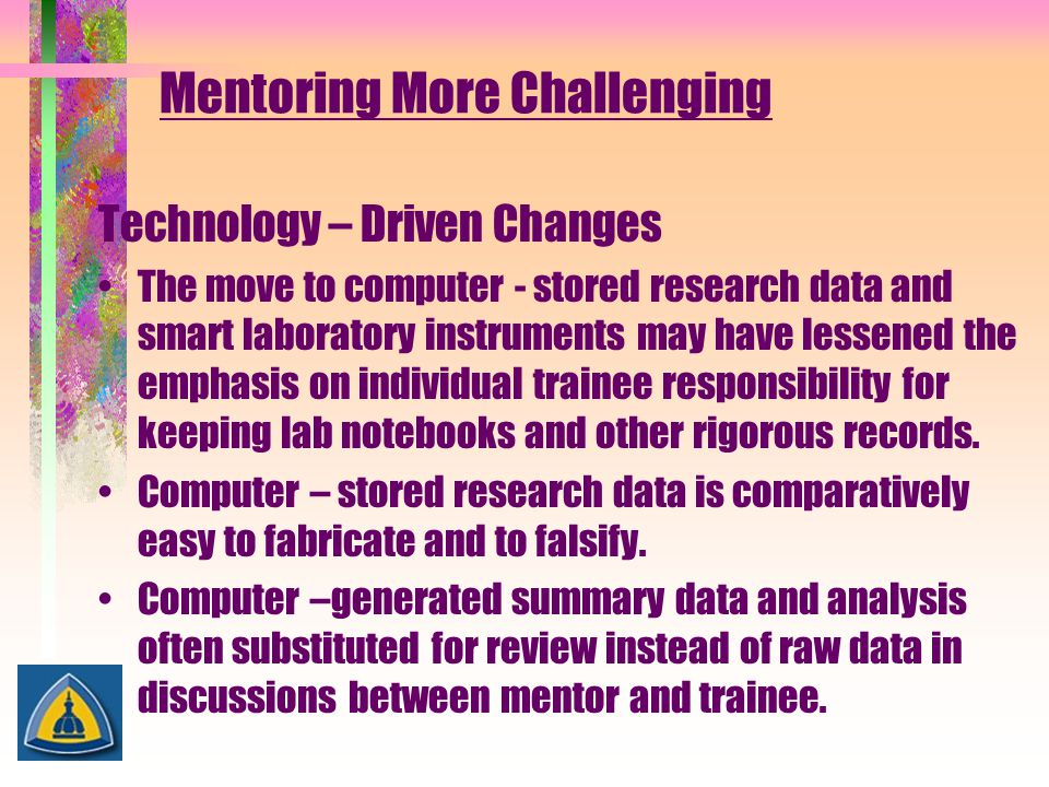Mentoring More Challenging