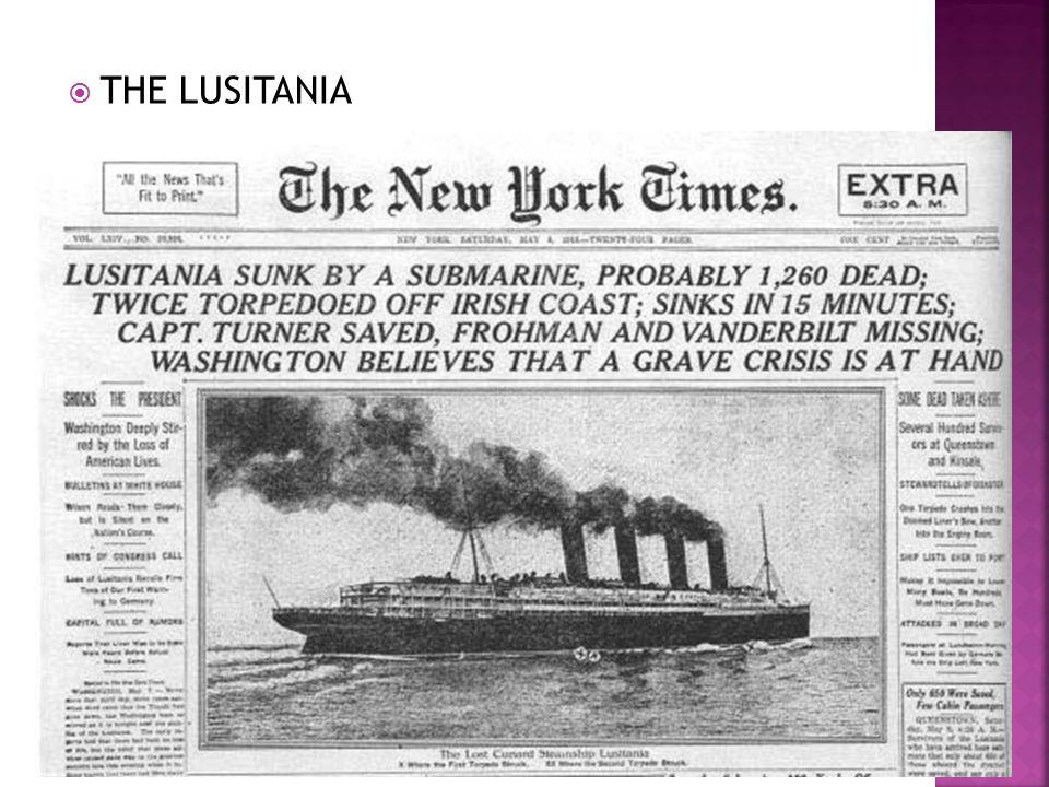 THE LUSITANIA Lusitania
