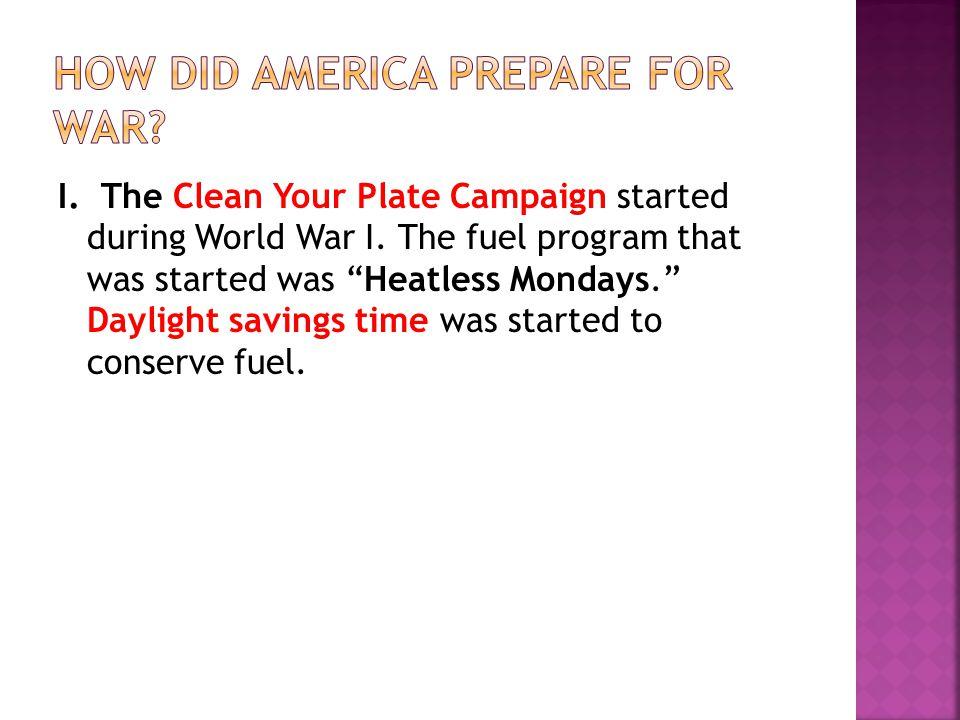 How did America prepare for war