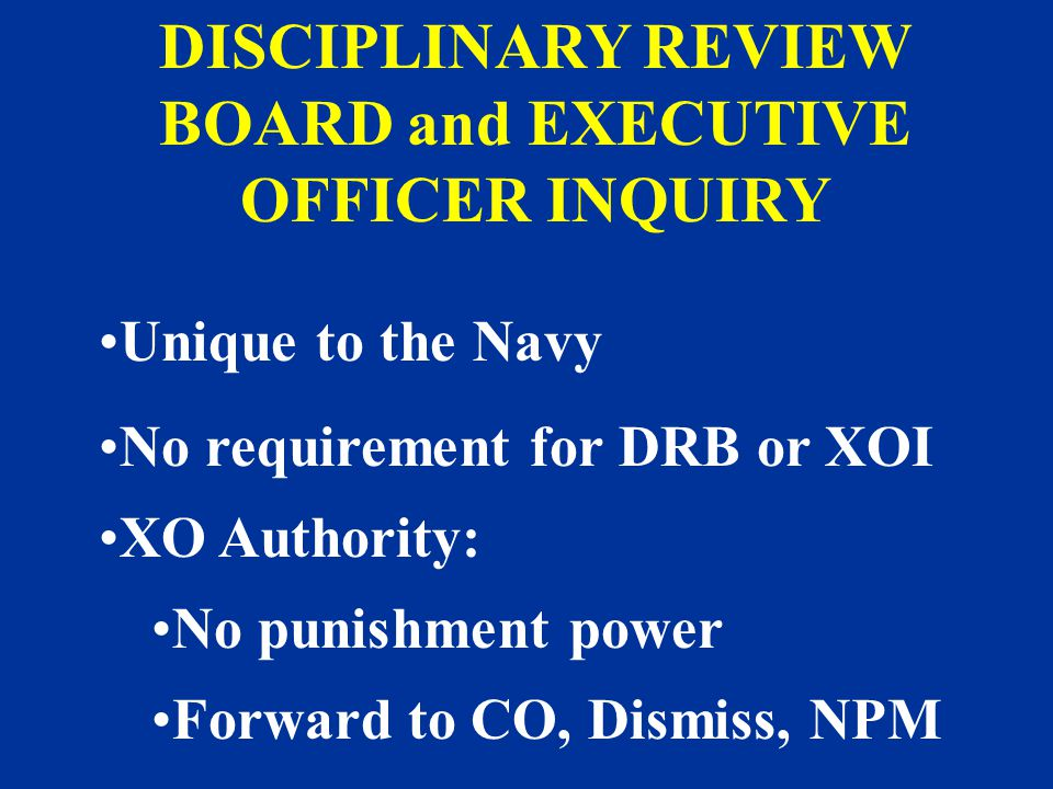 DISCIPLINARY REVIEW BOARD and EXECUTIVE OFFICER INQUIRY