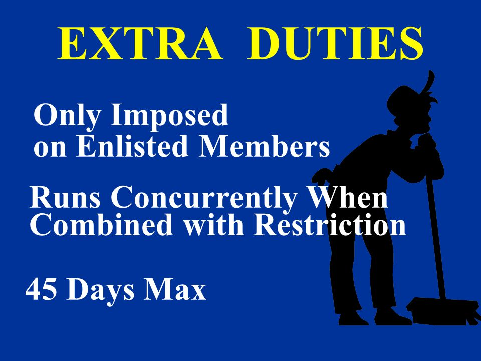 EXTRA DUTIES Only Imposed on Enlisted Members