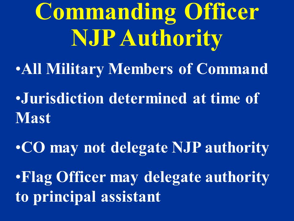 Commanding Officer NJP Authority