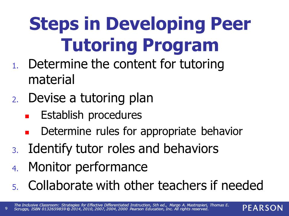 Strategies for Implementing a Tutoring Program