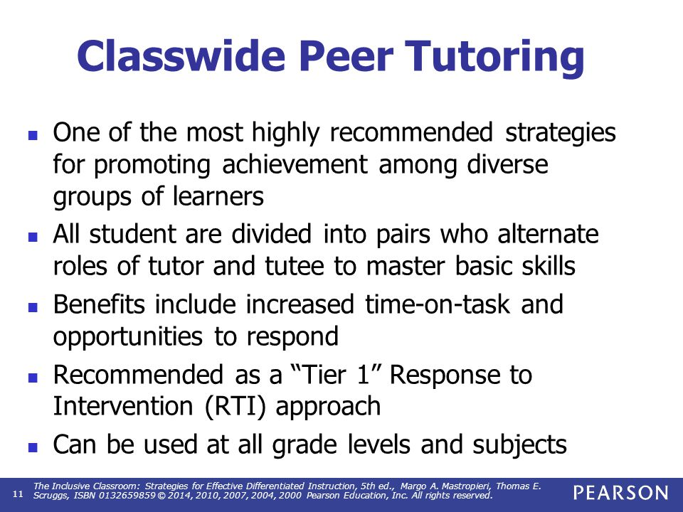 Planning and Implementing a Tutoring Program
