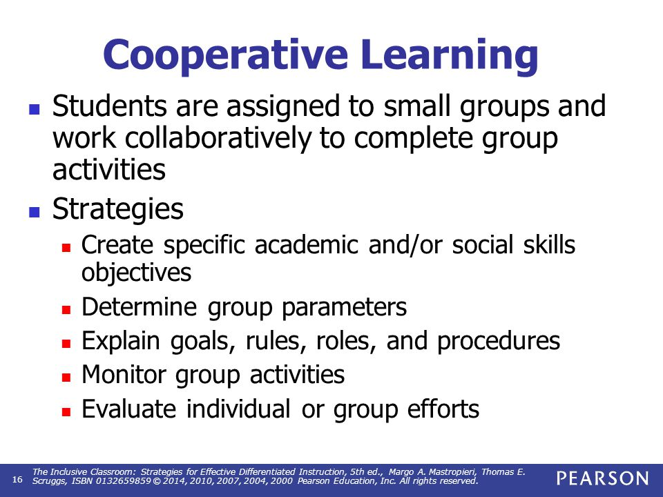 Cooperative Learning Integrate students with special needs