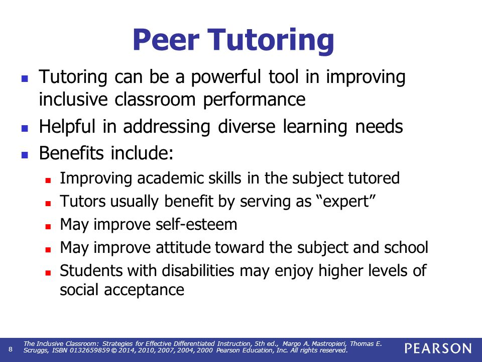 Steps in Developing Peer Tutoring Program