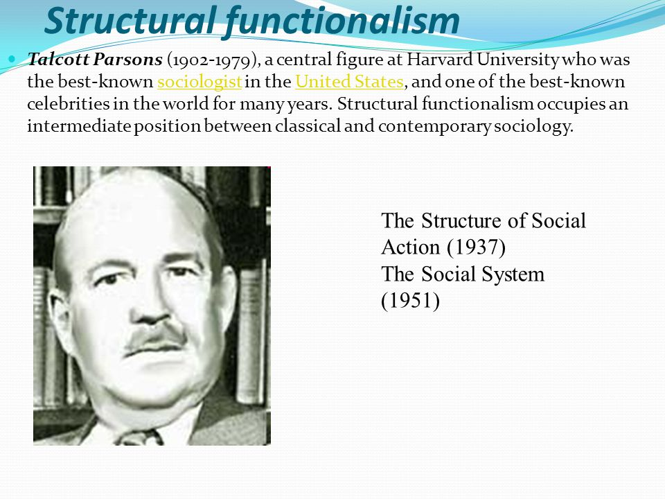 structural functionalism Structural functionalism, or simply functionalism, is a framework for building theory that sees society as a complex system whose parts work together to promote solidarity and stability[1] this approach looks at society through a macro-level orientation, which is a broad focus on the social structures that shape society as a whole, and believes.