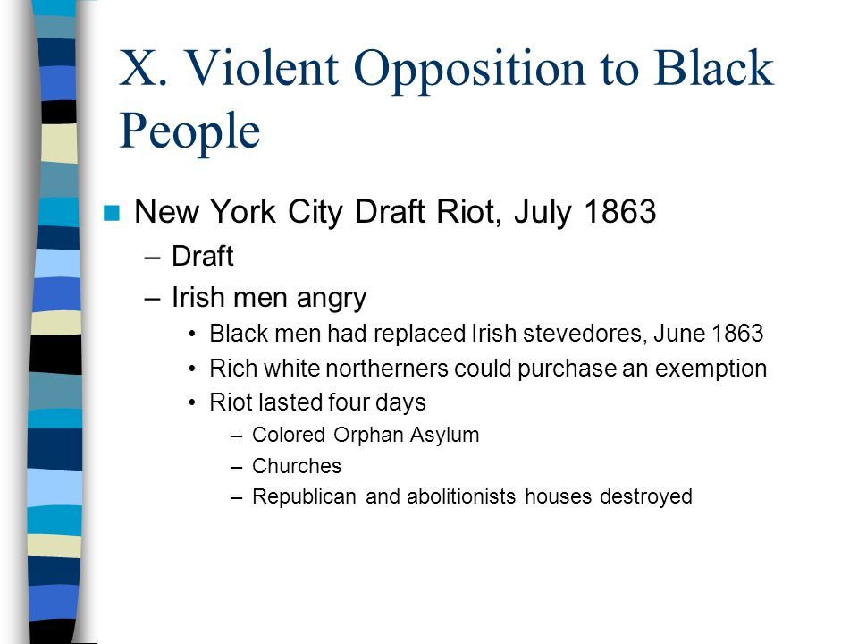 X. Violent Opposition to Black People