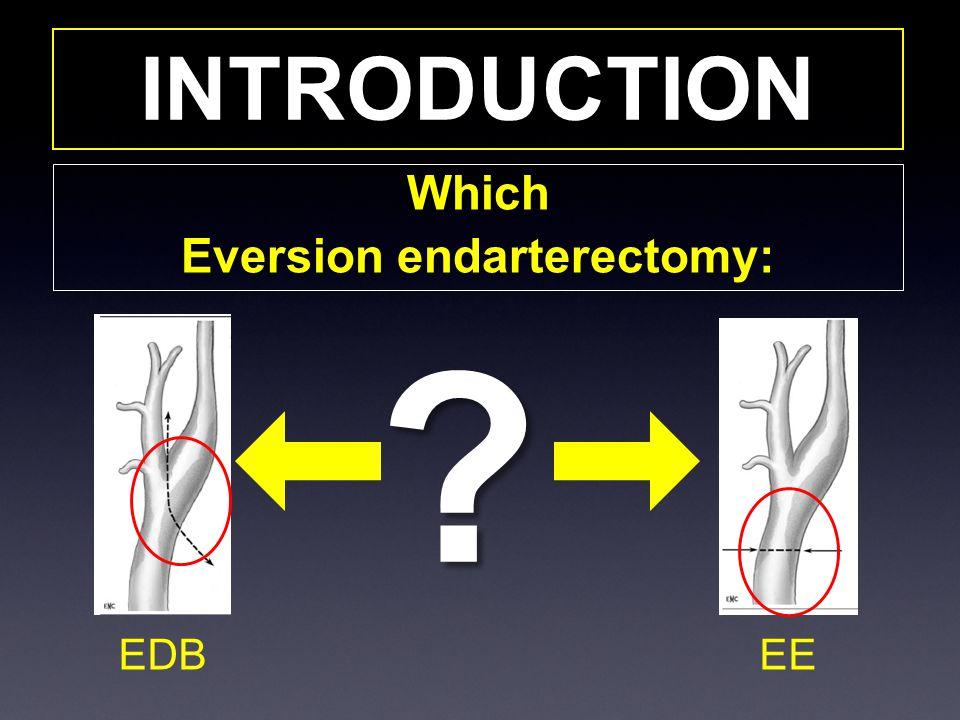 Eversion endarterectomy: