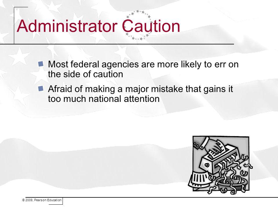 Administrator Caution