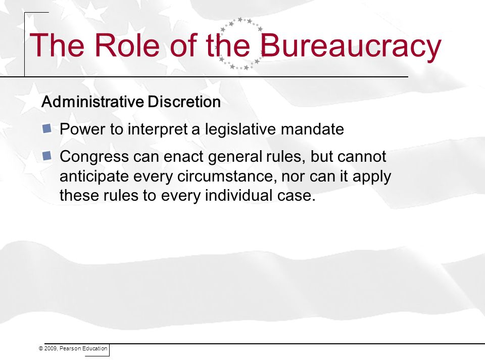 The Role of the Bureaucracy
