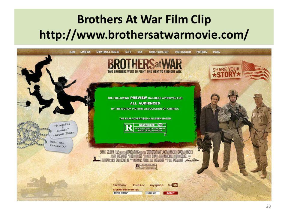 Brothers At War Film Clip http://www.brothersatwarmovie.com/
