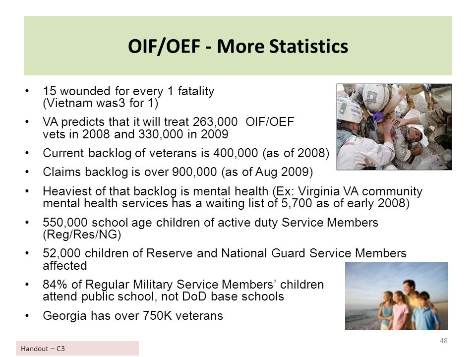OIF/OEF - More Statistics