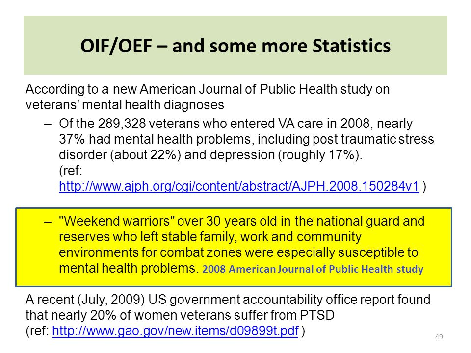 OIF/OEF – and some more Statistics