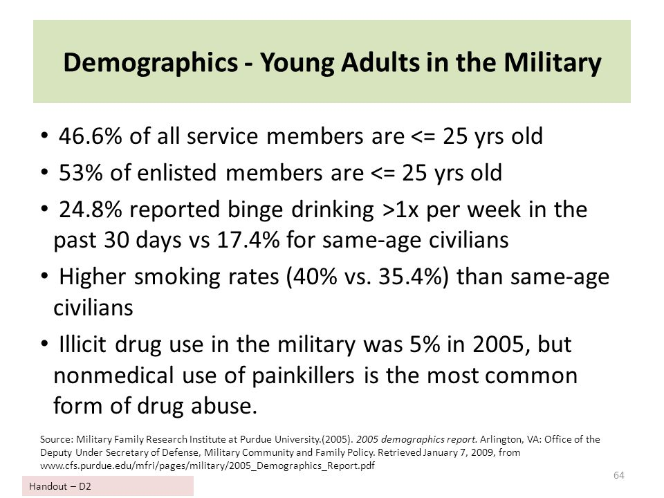 Demographics - Young Adults in the Military