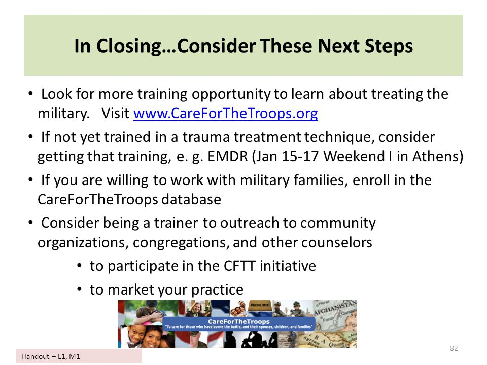 In Closing…Consider These Next Steps