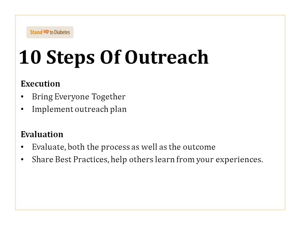 10 Steps Of Outreach Execution Bring Everyone Together