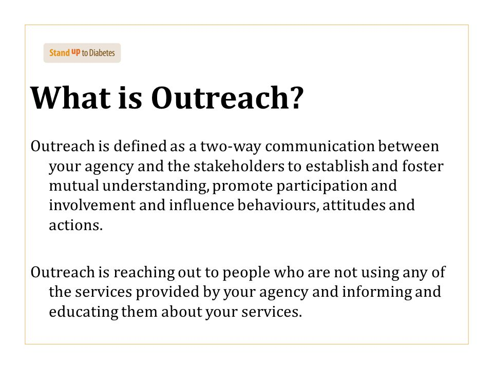 What is Outreach