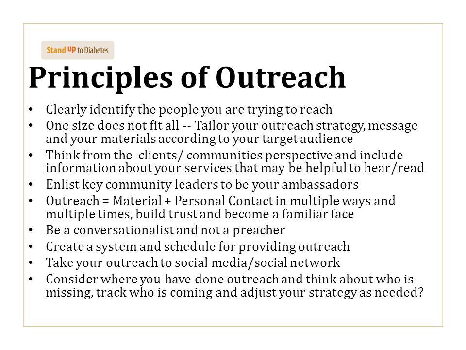 Principles of Outreach