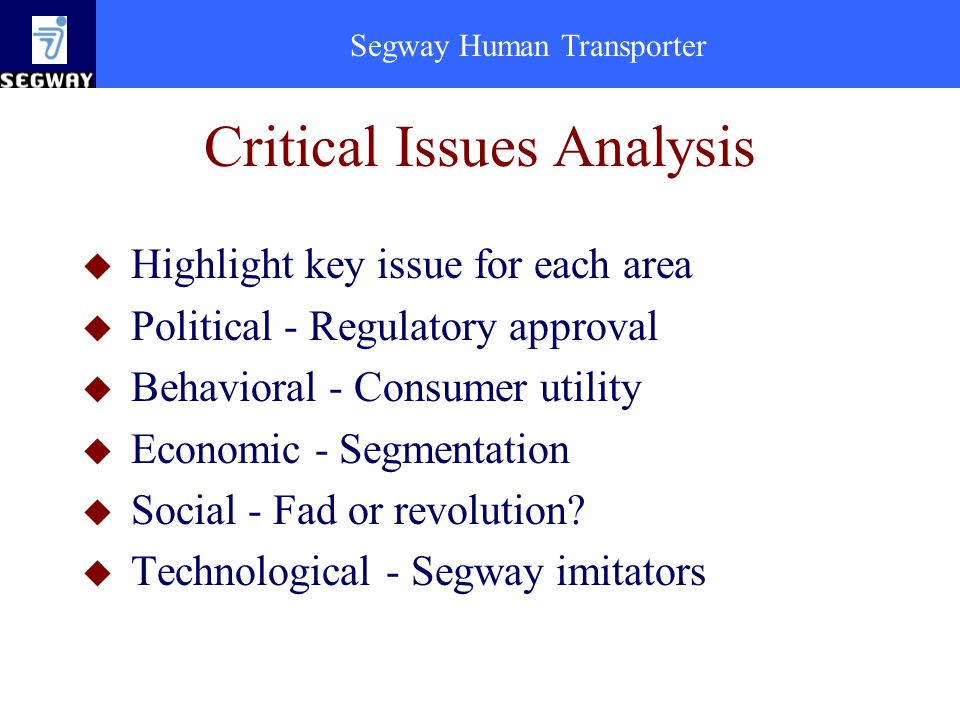 Critical Issues Analysis