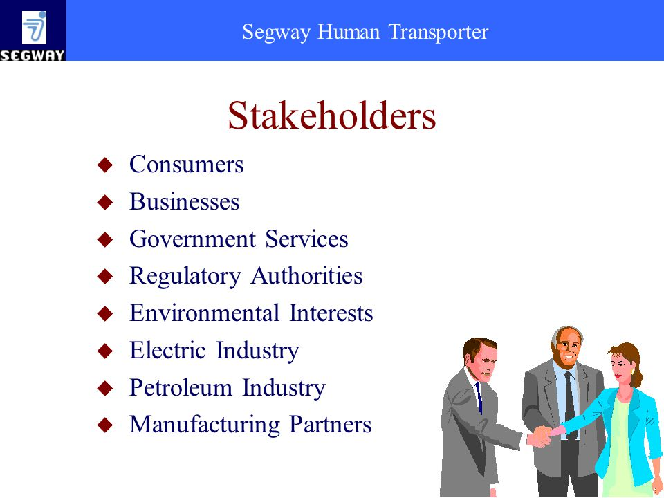 Stakeholders Consumers Businesses Government Services