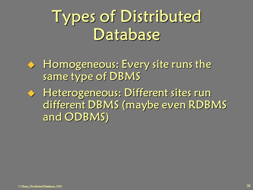 Types of Distributed Database