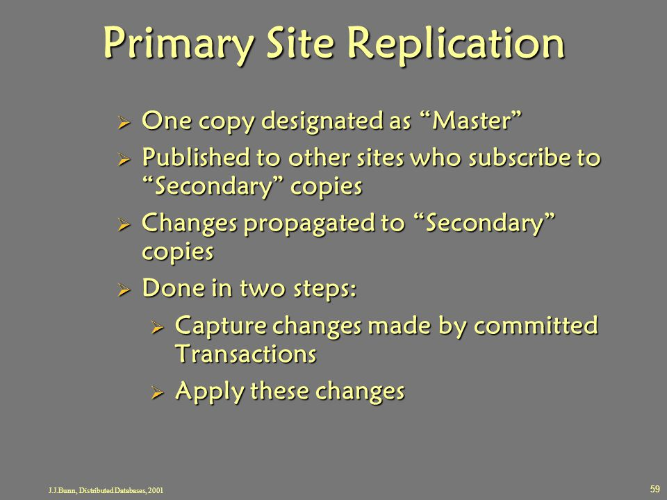 Primary Site Replication