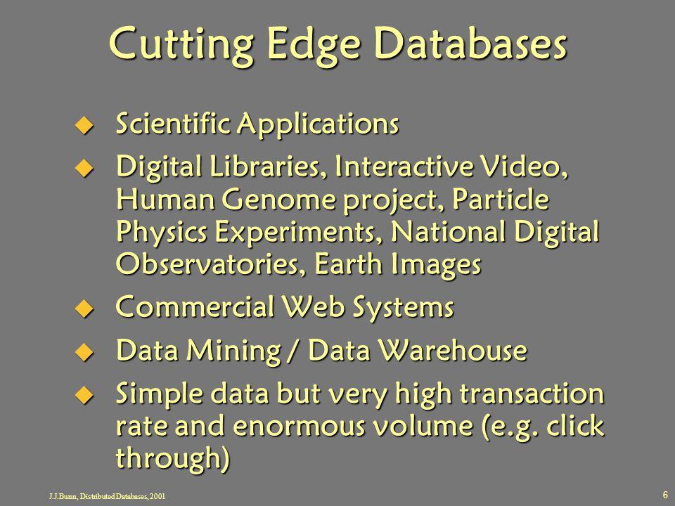 Cutting Edge Databases