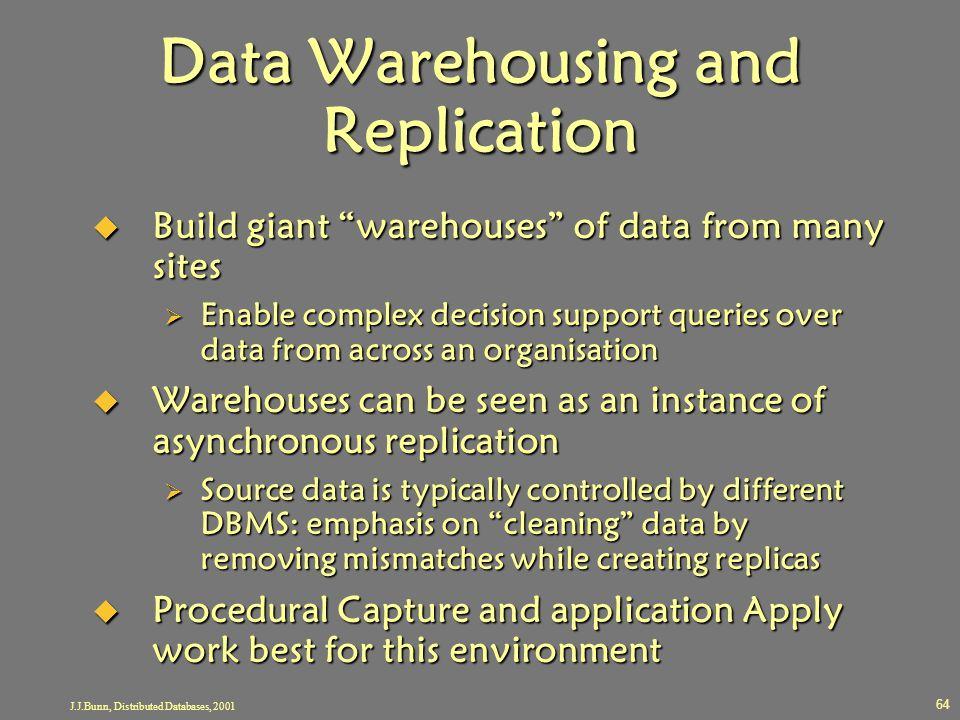 Data Warehousing and Replication