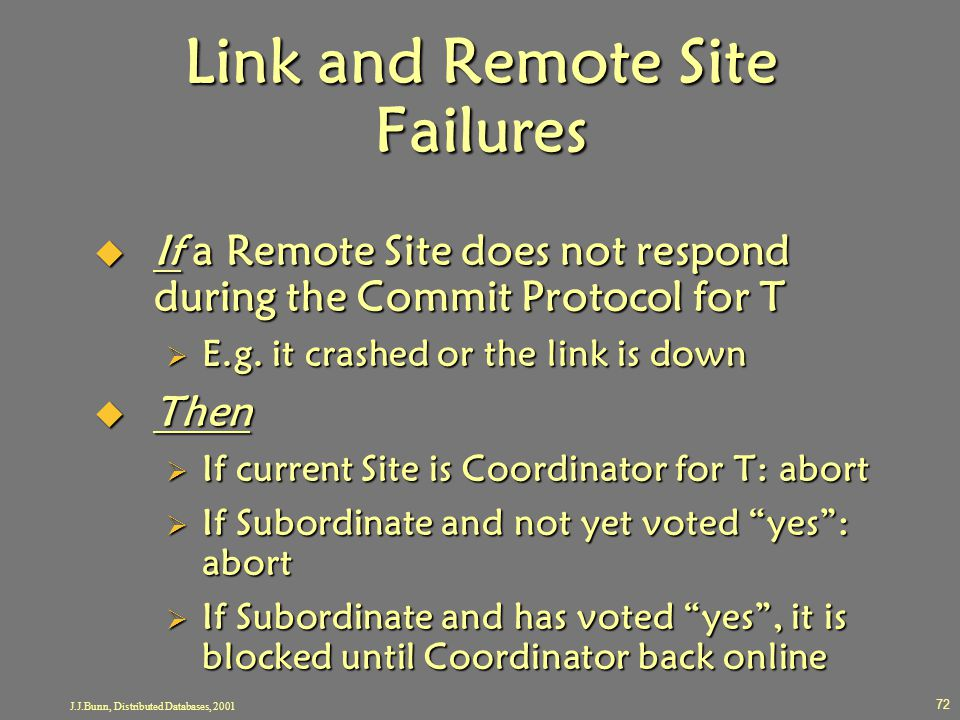 Link and Remote Site Failures