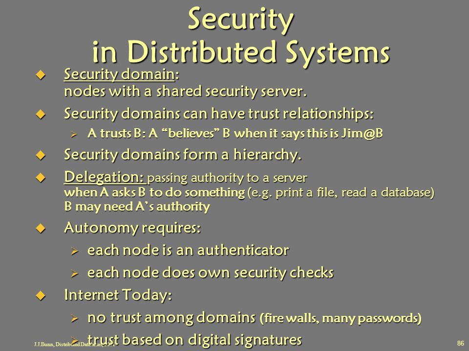 Security in Distributed Systems