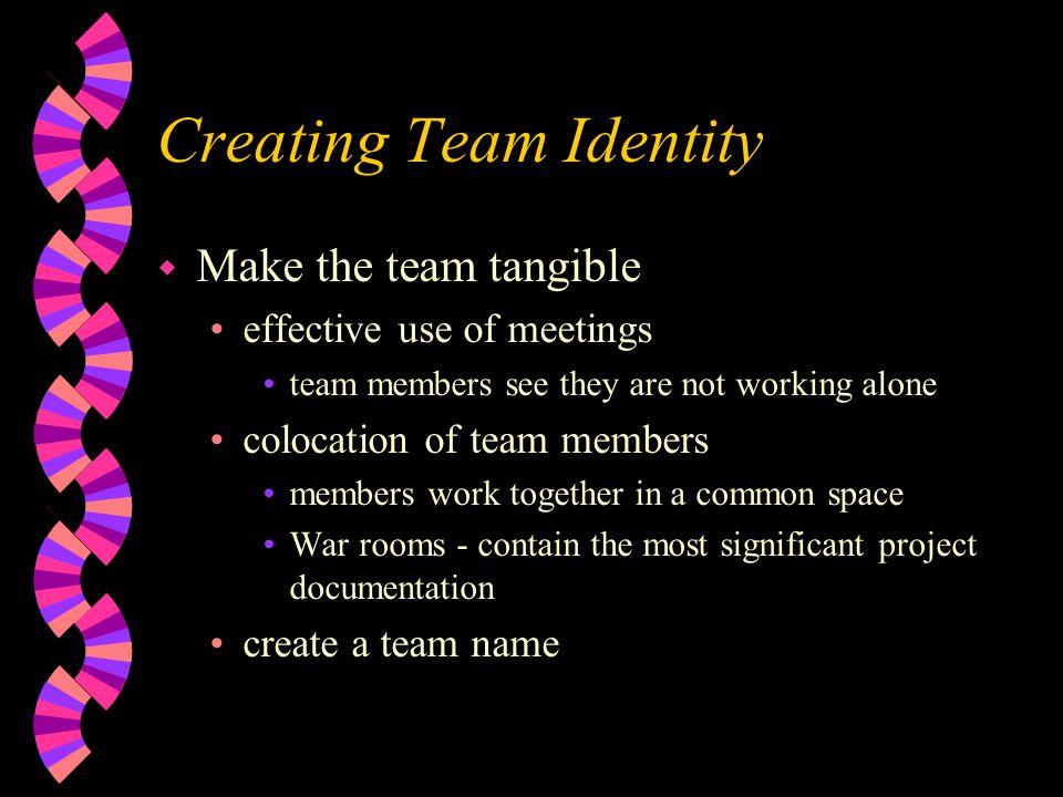 Creating Team Identity