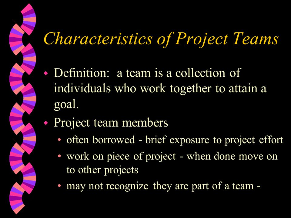 Characteristics of Project Teams