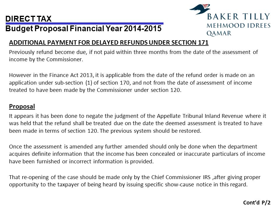 ADDITIONAL PAYMENT FOR DELAYED REFUNDS UNDER SECTION 171