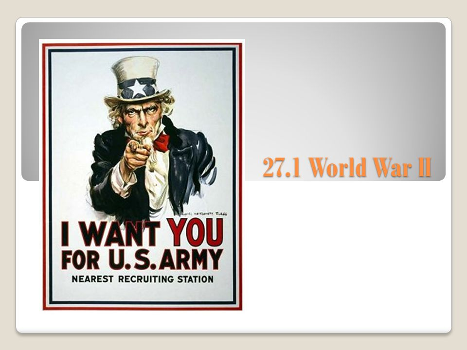 27.1 World War II