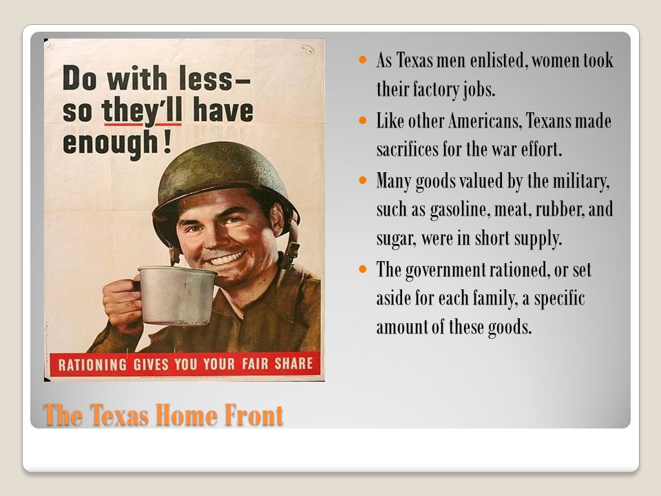 As Texas men enlisted, women took their factory jobs.