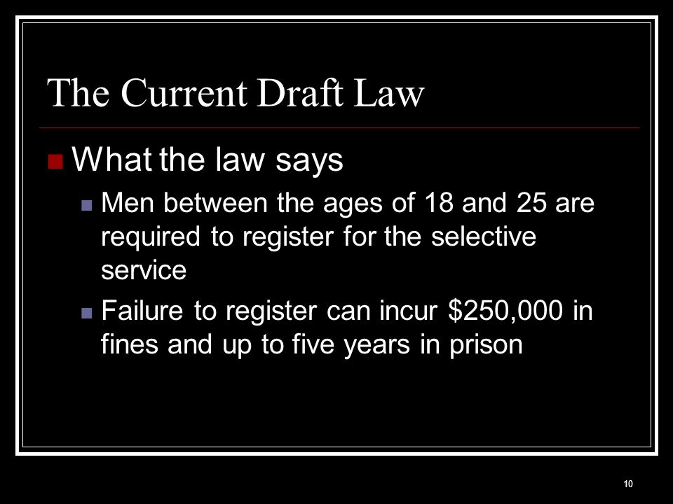 The Current Draft Law What the law says