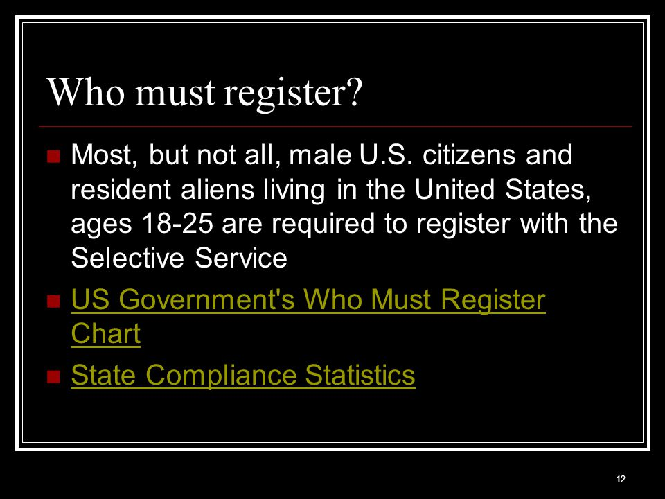 Who must register