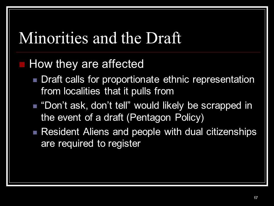 Minorities and the Draft