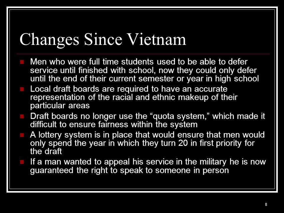 Changes Since Vietnam