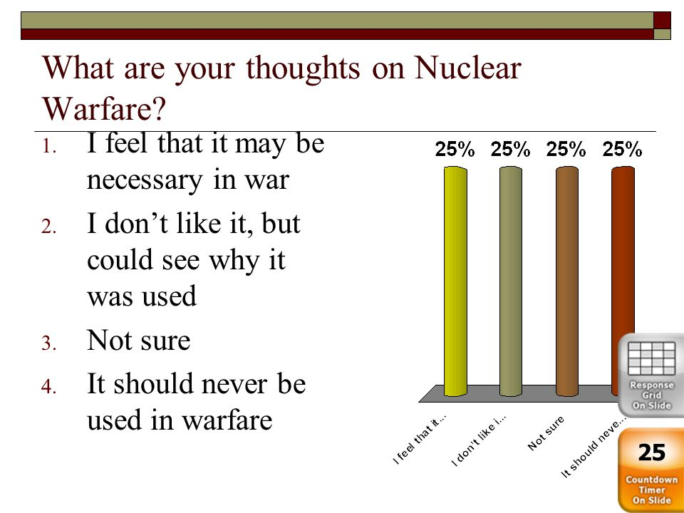 What are your thoughts on Nuclear Warfare