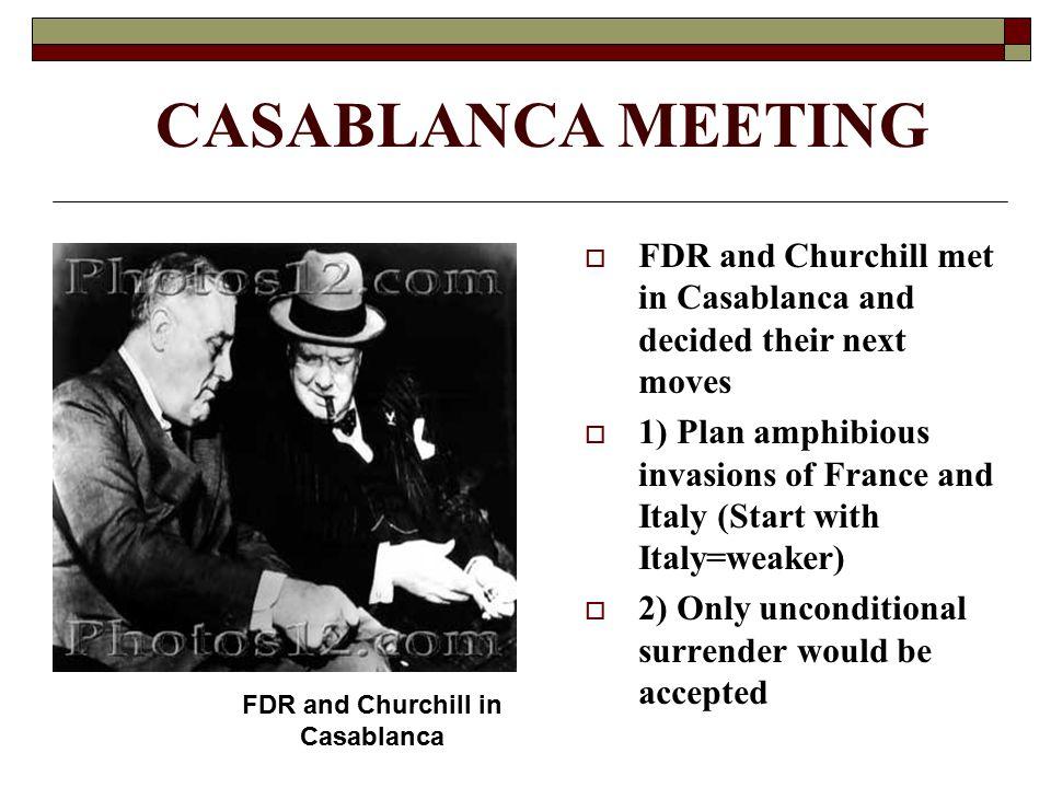 FDR and Churchill in Casablanca