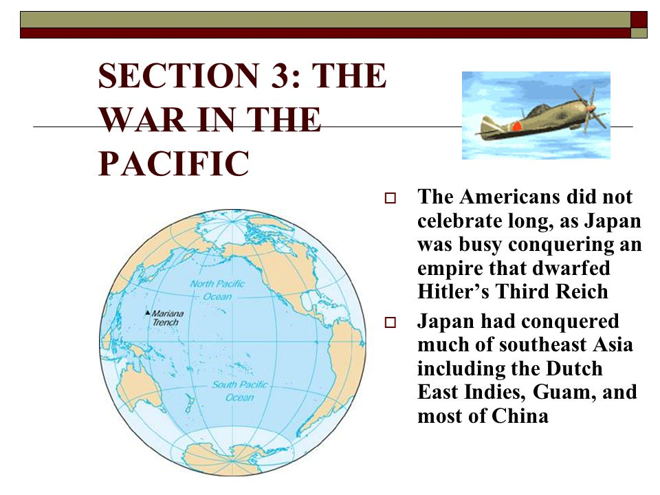 SECTION 3: THE WAR IN THE PACIFIC