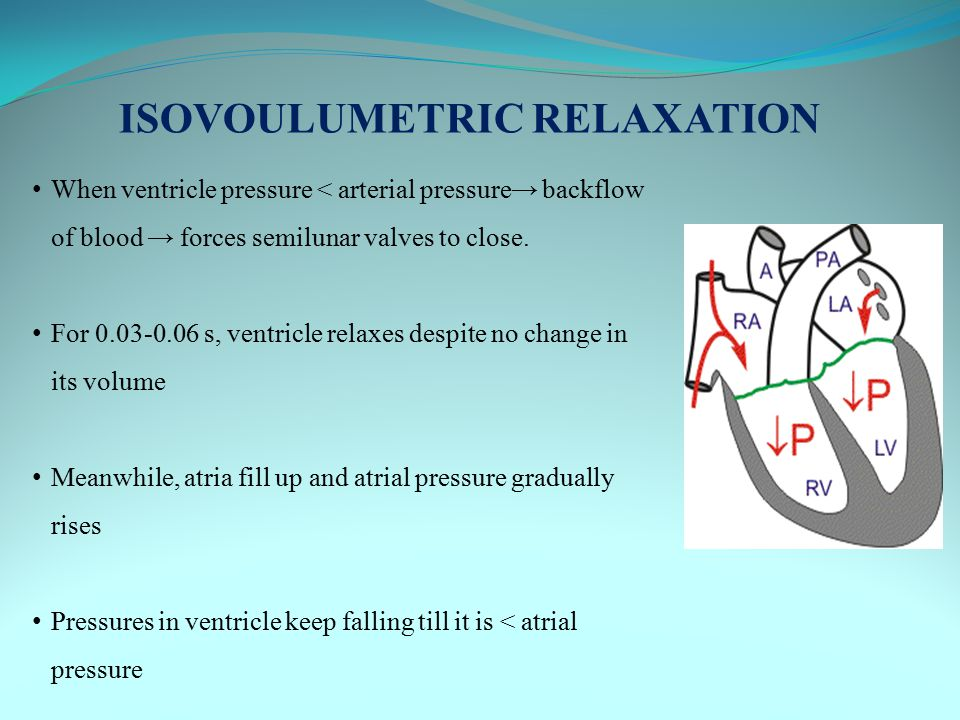 ISOVOULUMETRIC RELAXATION