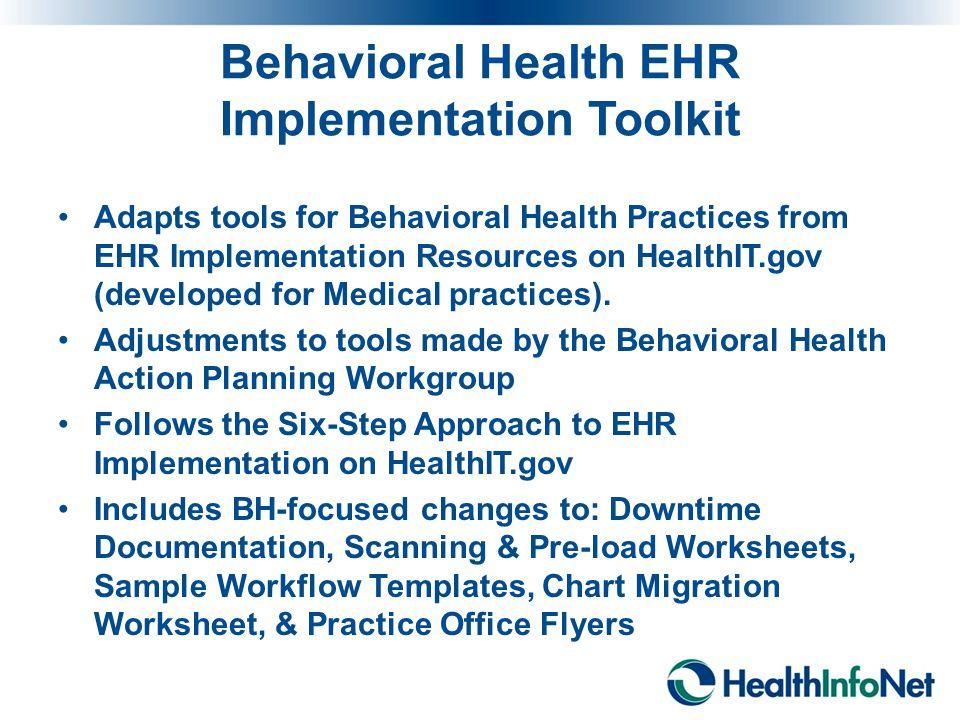 Behavioral Health EHR Implementation Toolkit